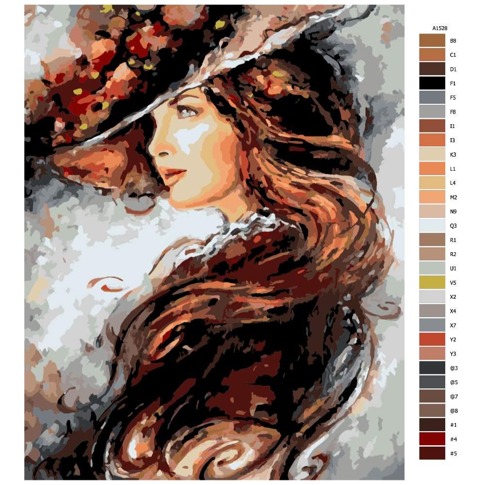Návod pro malování podle čísel Rytířská dáma