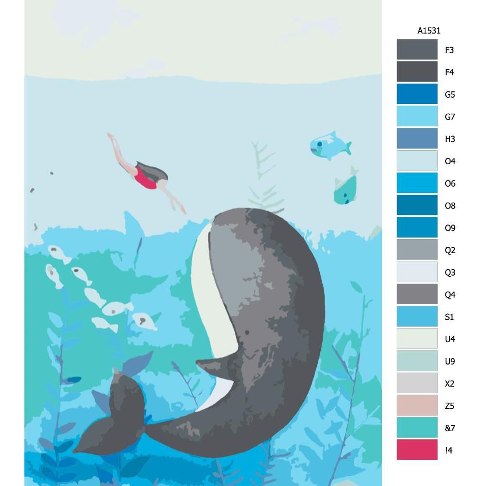 Návod pro malování podle čísel Setkání