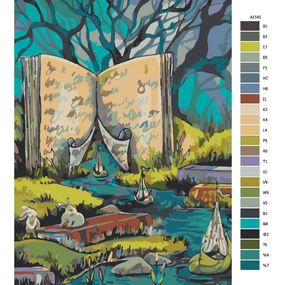 Návod pro malování podle čísel V knihách
