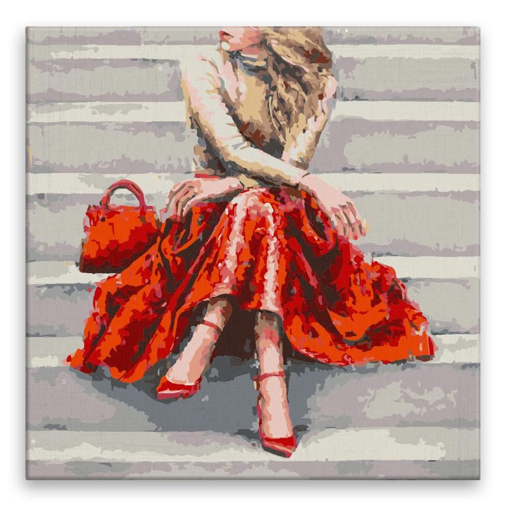 Malování podle čísel Blondýna v rudém