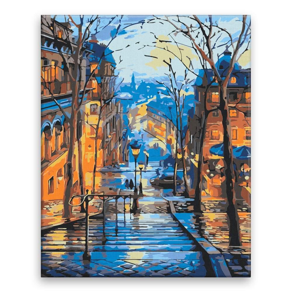 Malování podle čísel Večerní pohled na město