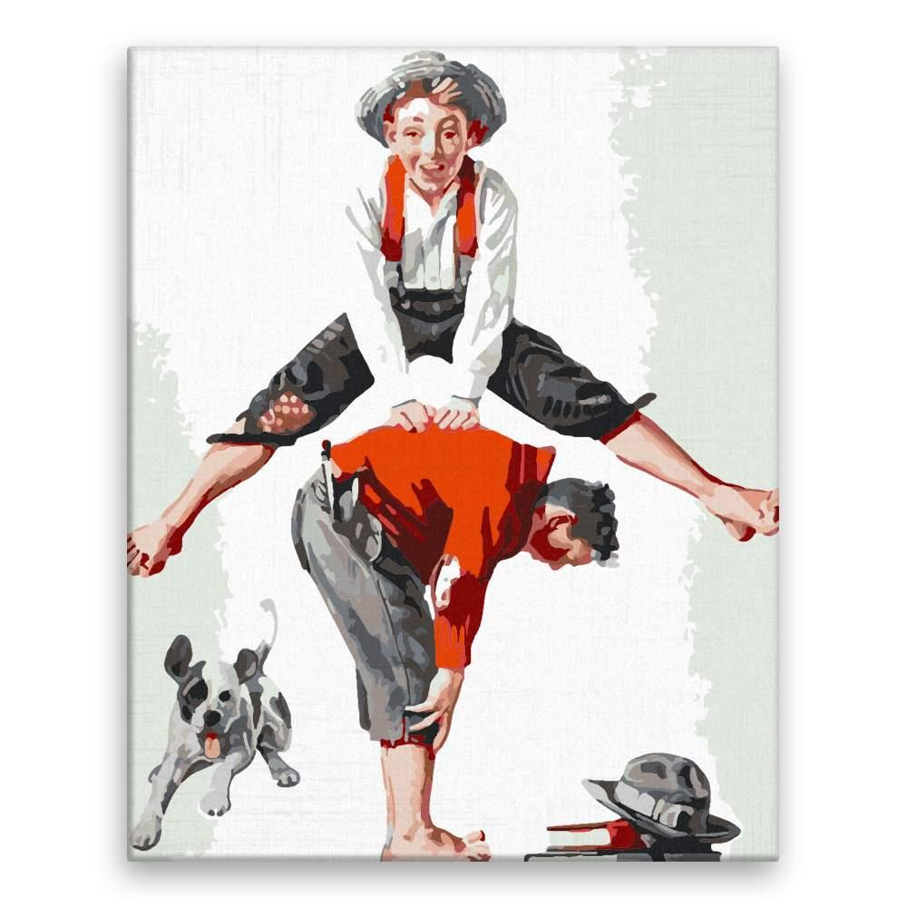 Malování podle čísel Přeskok Norman Rockwell