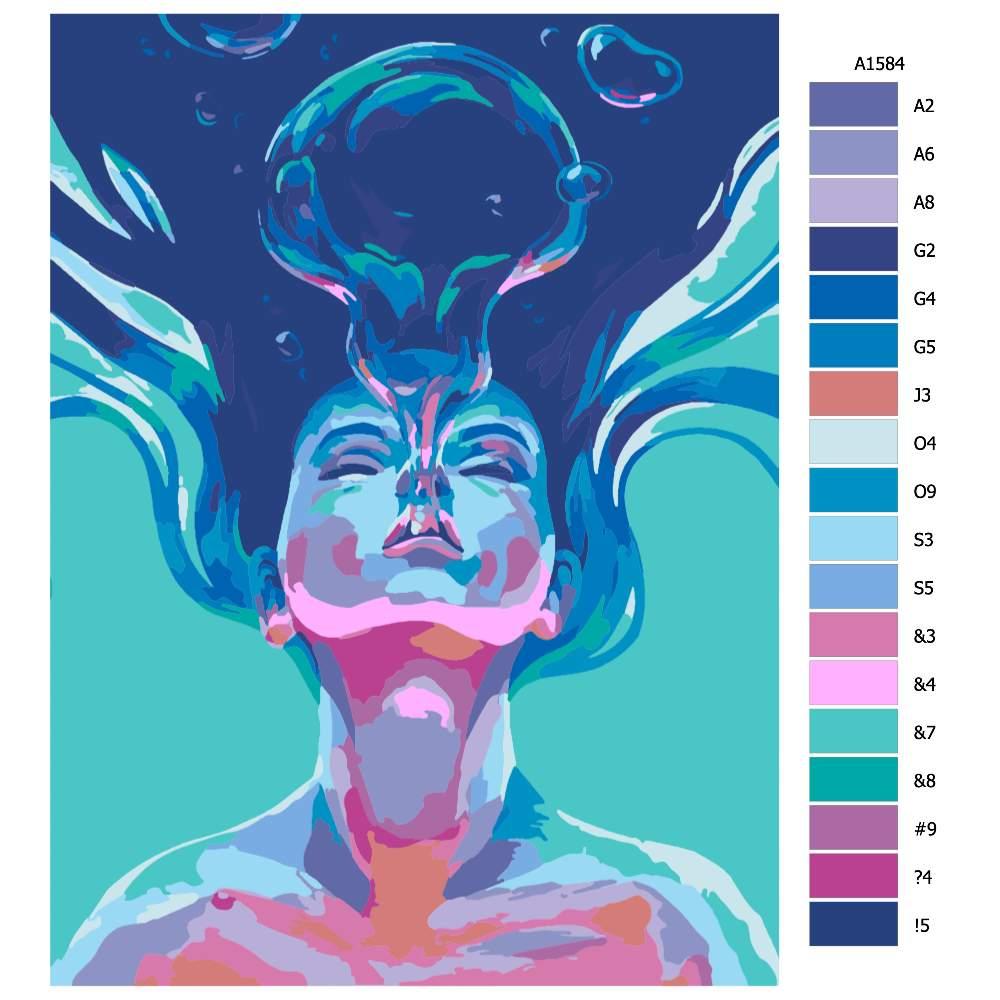 Návod pro malování podle čísel Výdech