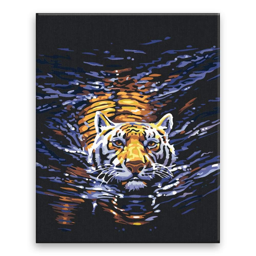 Malování podle čísel Plavající tygr