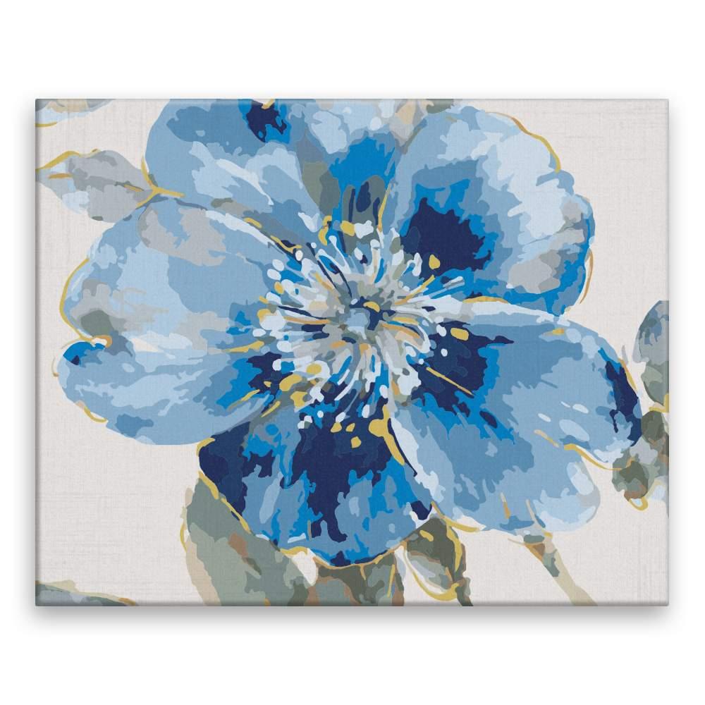 Malování podle čísel Modrý květ
