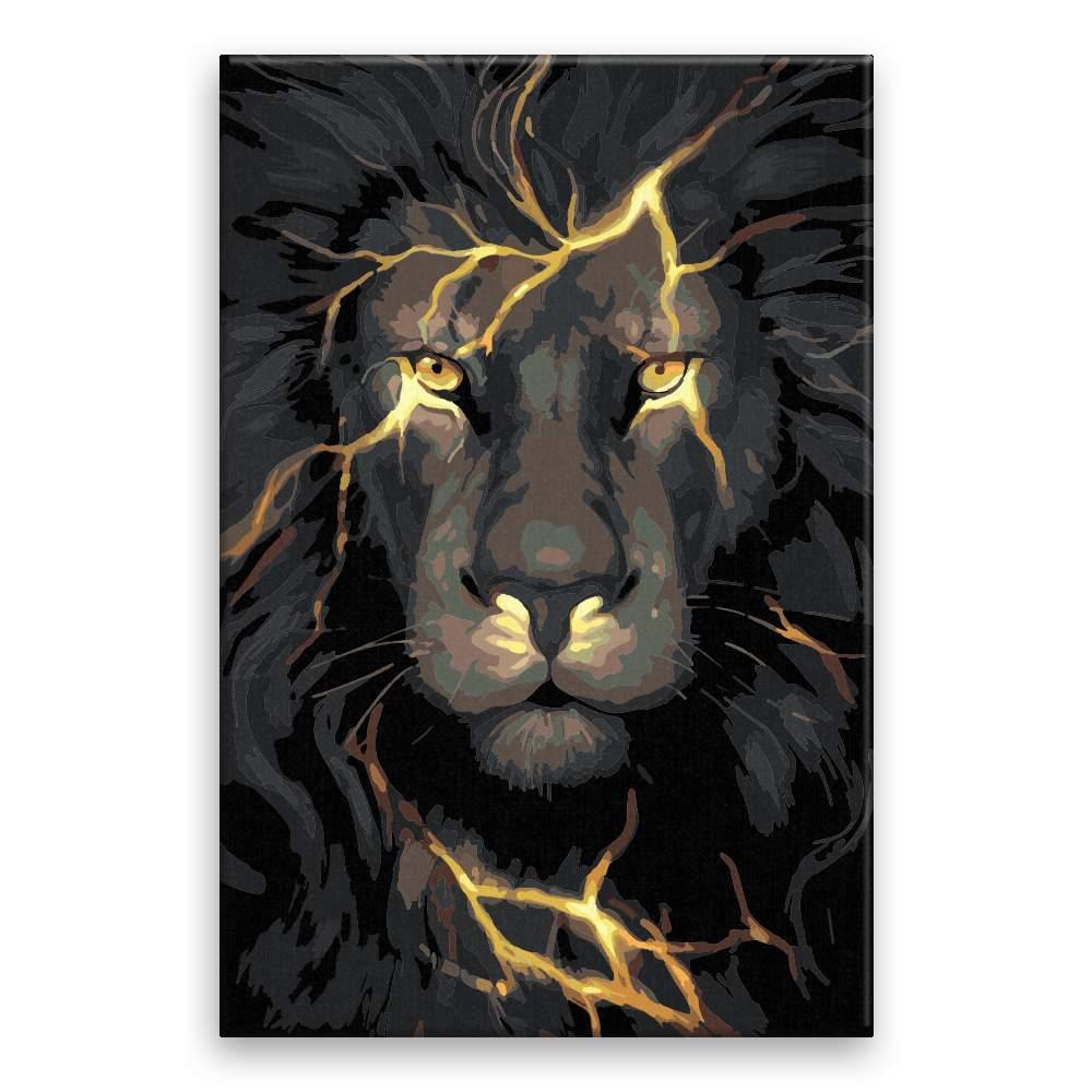 Malování podle čísel Lev s blesky