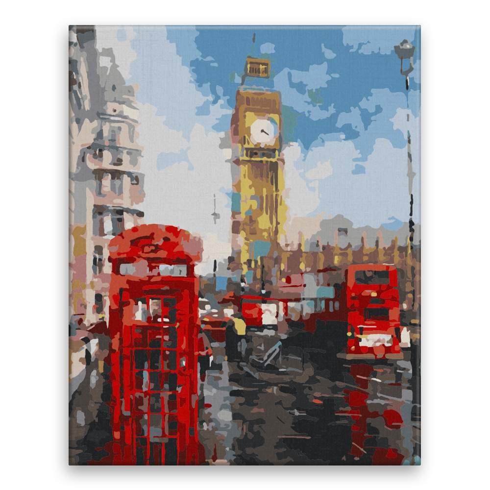 Malování podle čísel V Londýně