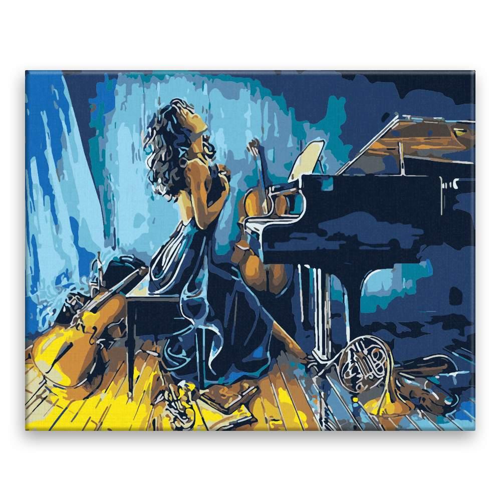 Malování podle čísel Posedlá hudbou
