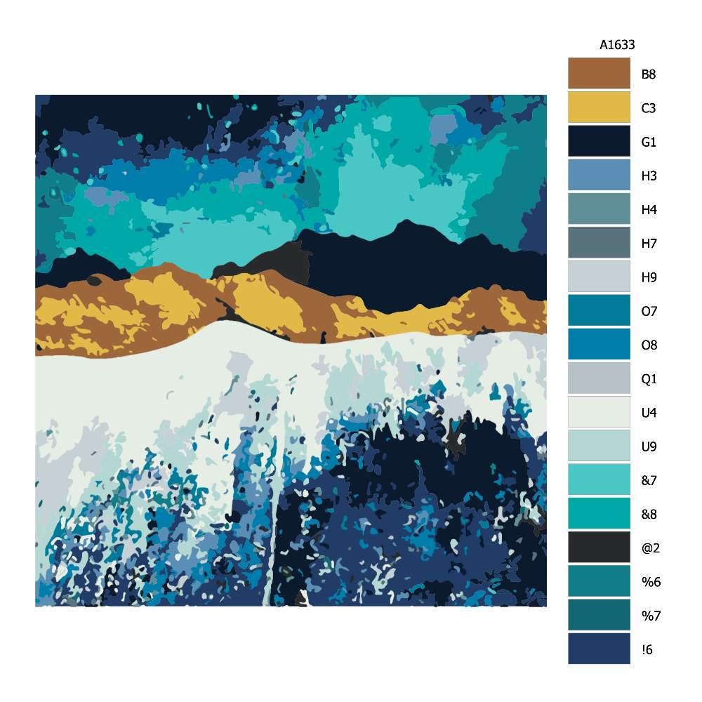 Malování podle čísel Noční příliv