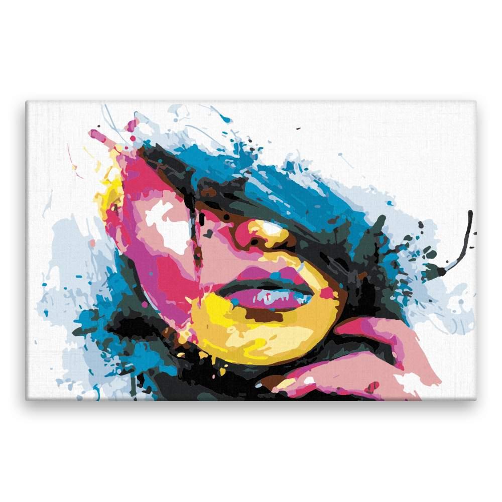 Malování podle čísel Z části zakrytá v barvách