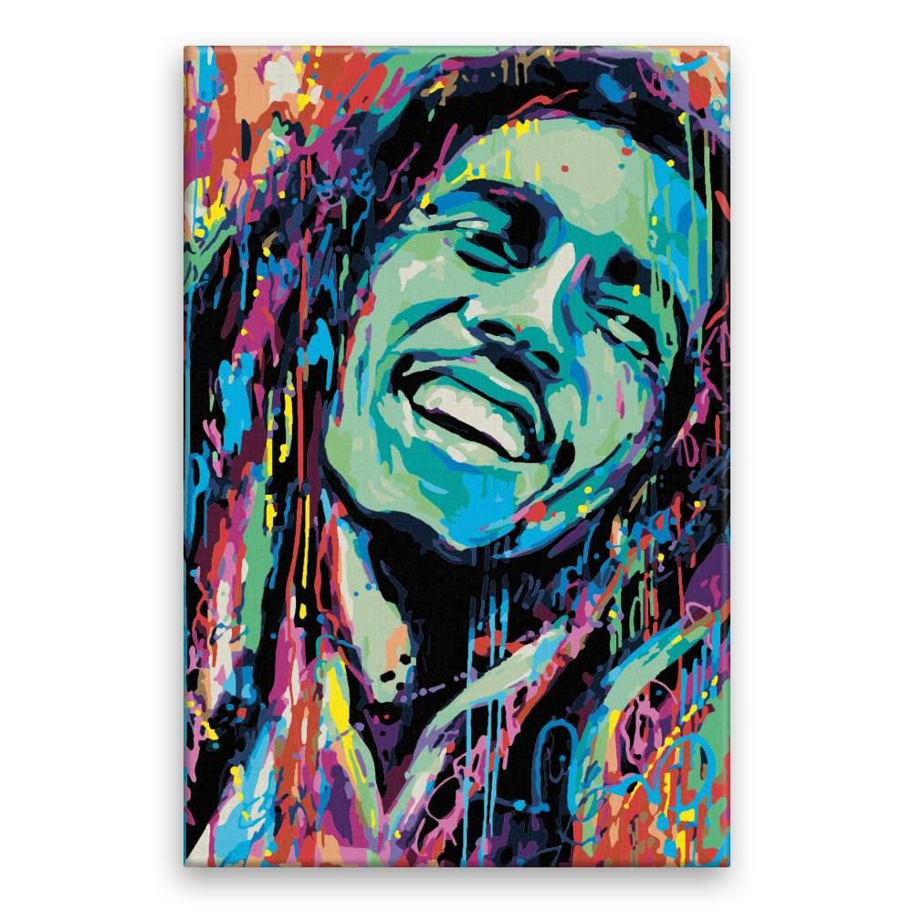 Malování podle čísel Bob Marley v barvách