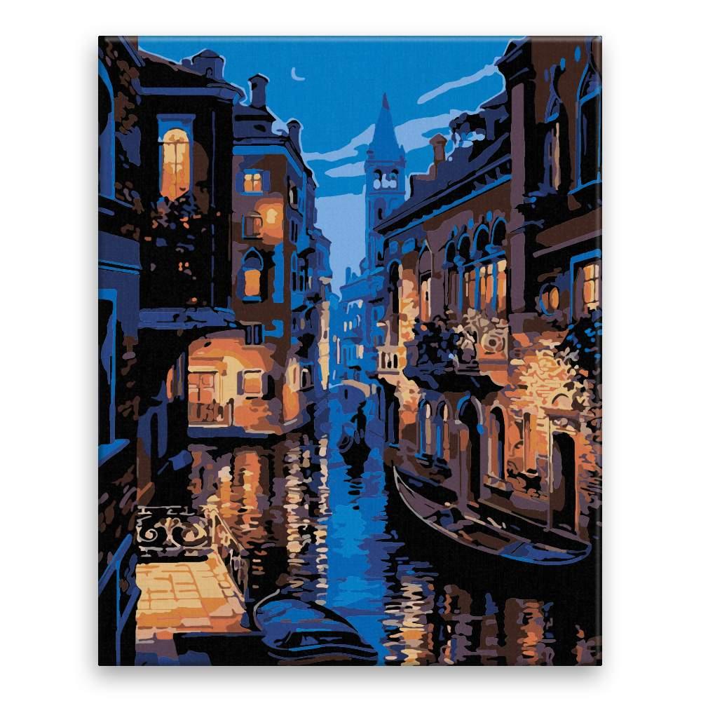 Malování podle čísel Noční Benátky