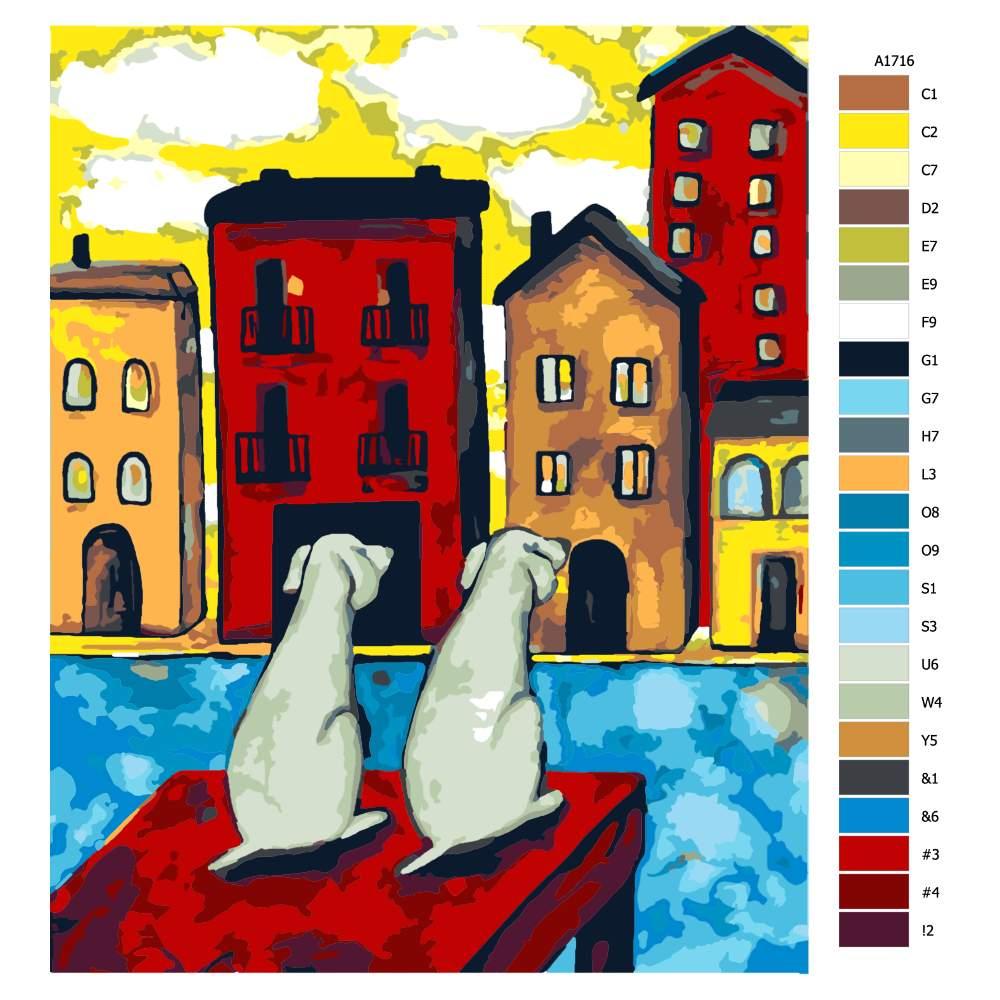 Návod pro malování podle čísel Na čekané