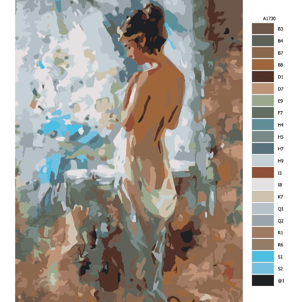 Návod pro malování podle čísel Po ránu