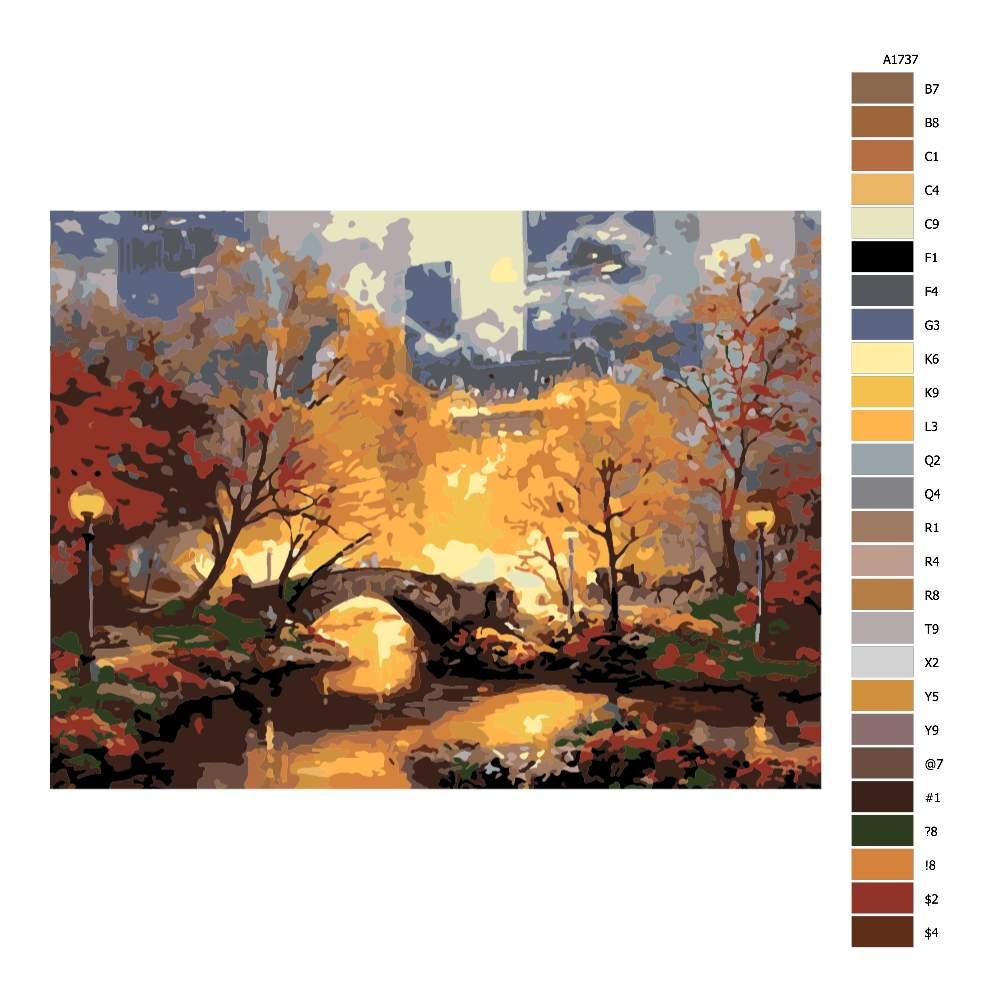 Malování podle čísel Central Park