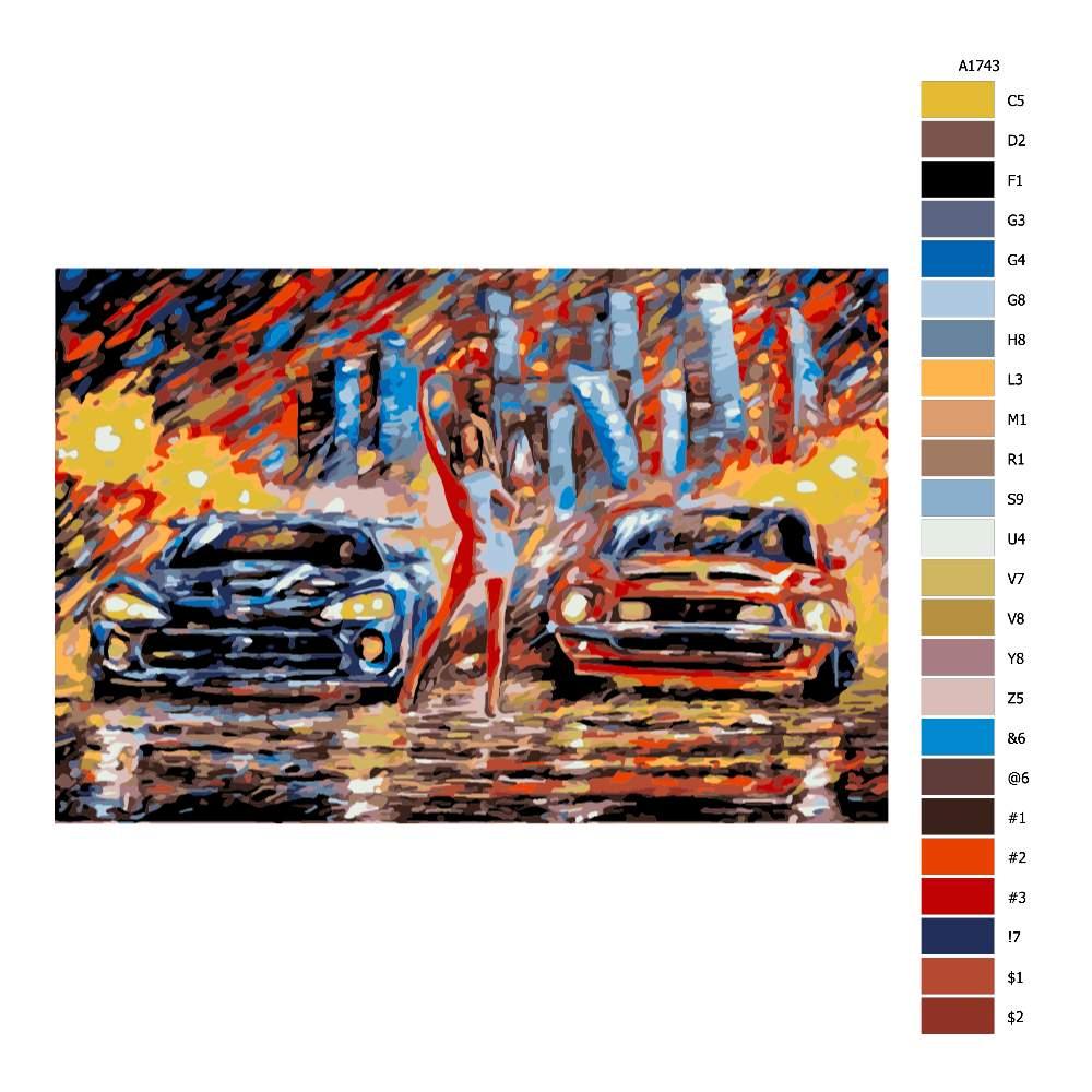 Návod pro malování podle čísel Před závodem