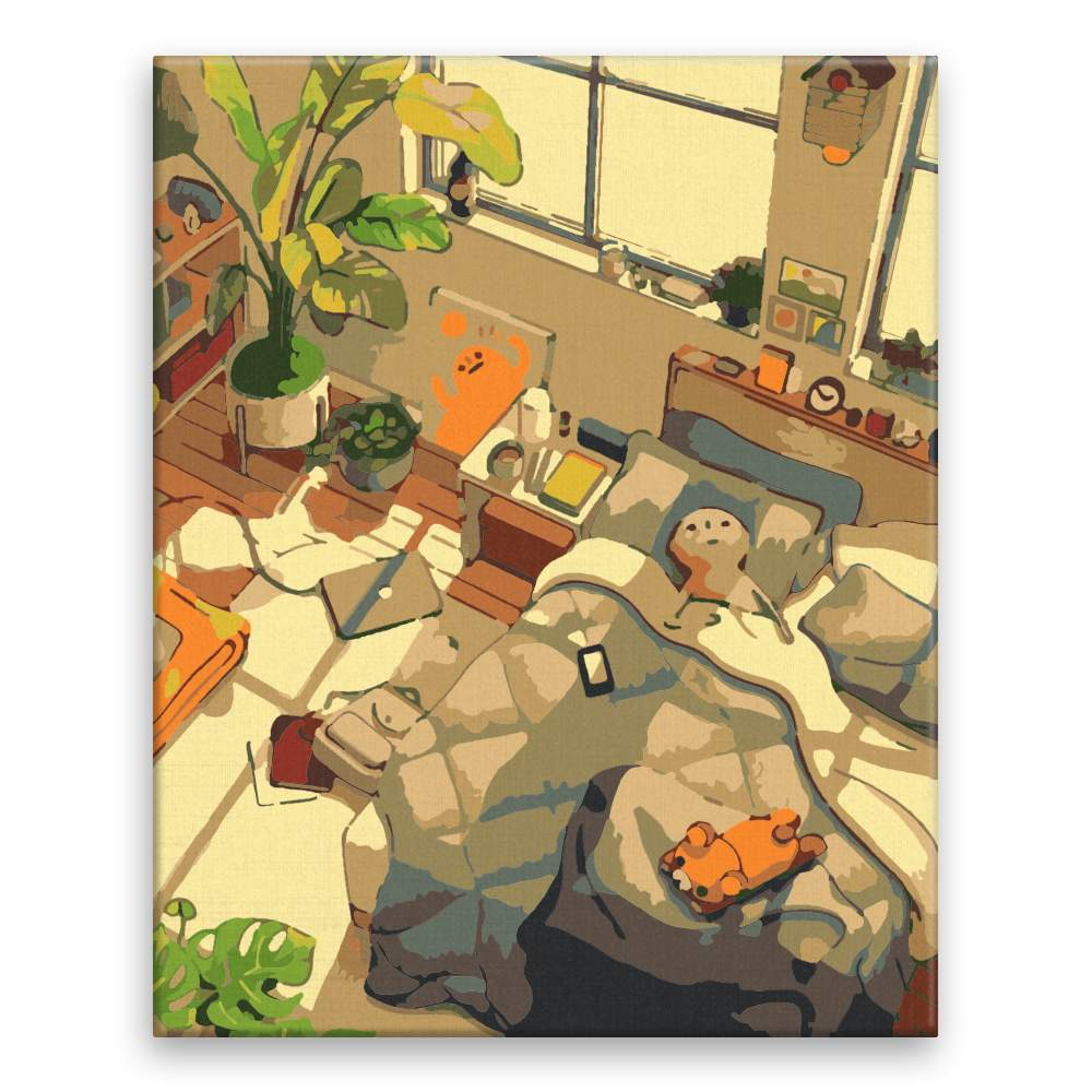 Malování podle čísel Odpolední odpočinek