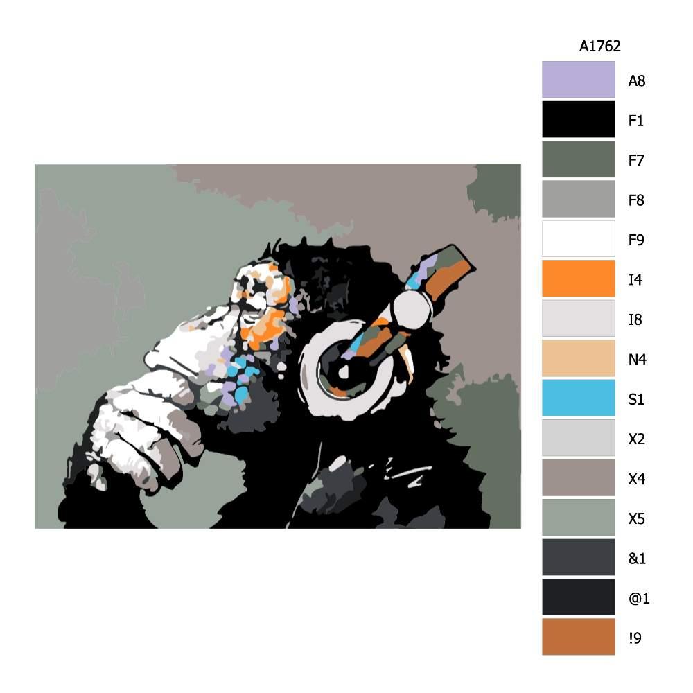 Návod pro malování podle čísel V hudebním zamyšlení