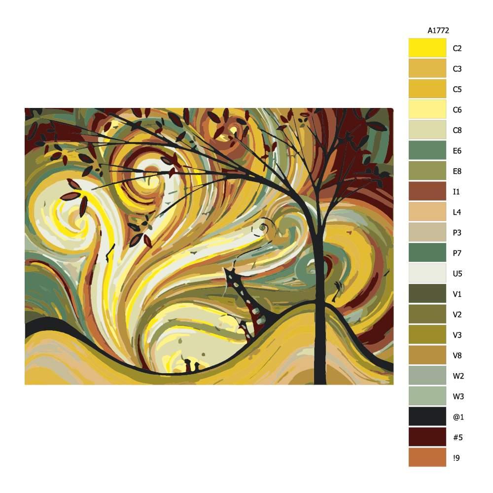 Návod pro malování podle čísel Kouzelné vlny