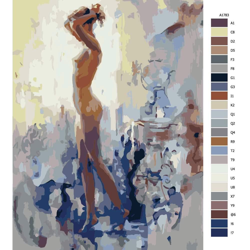 Návod pro malování podle čísel Nahá