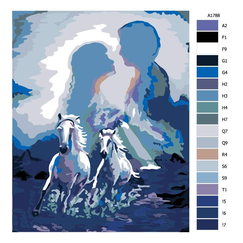 Návod pro malování podle čísel Projení duší