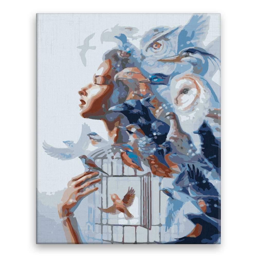 Malování podle čísel Ptačí síla