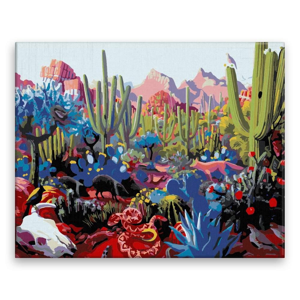 Malování podle čísel Kaktusová plantáž