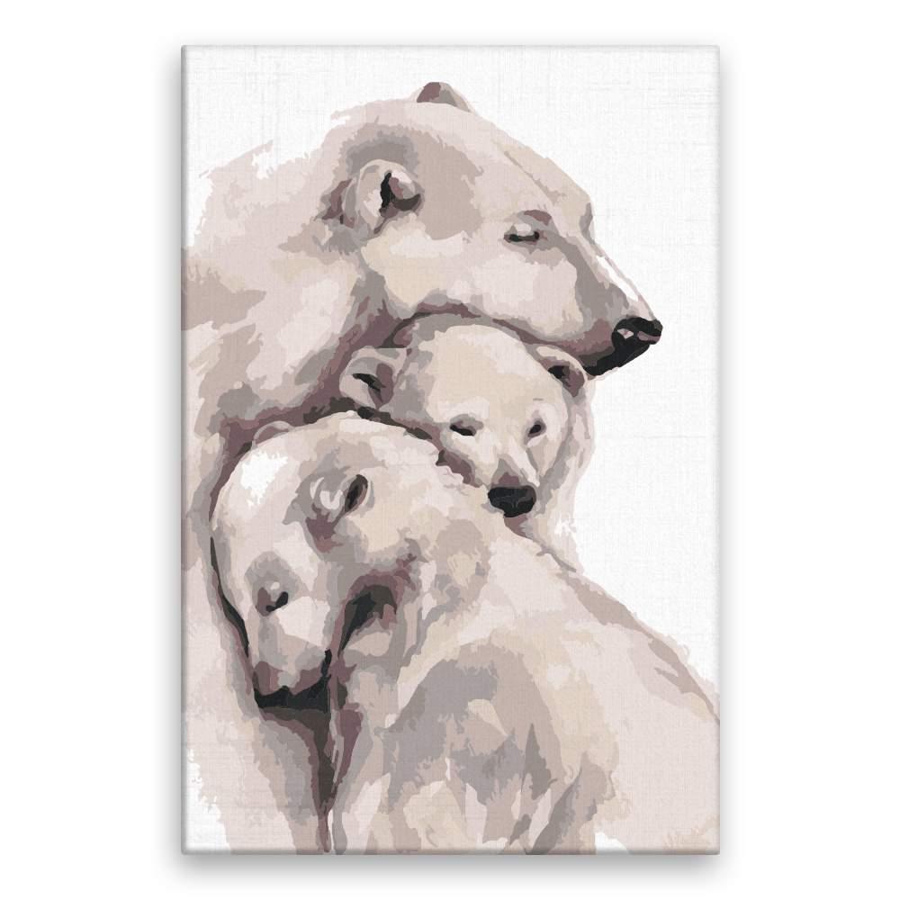 Malování podle čísel Láska ledních medvědů