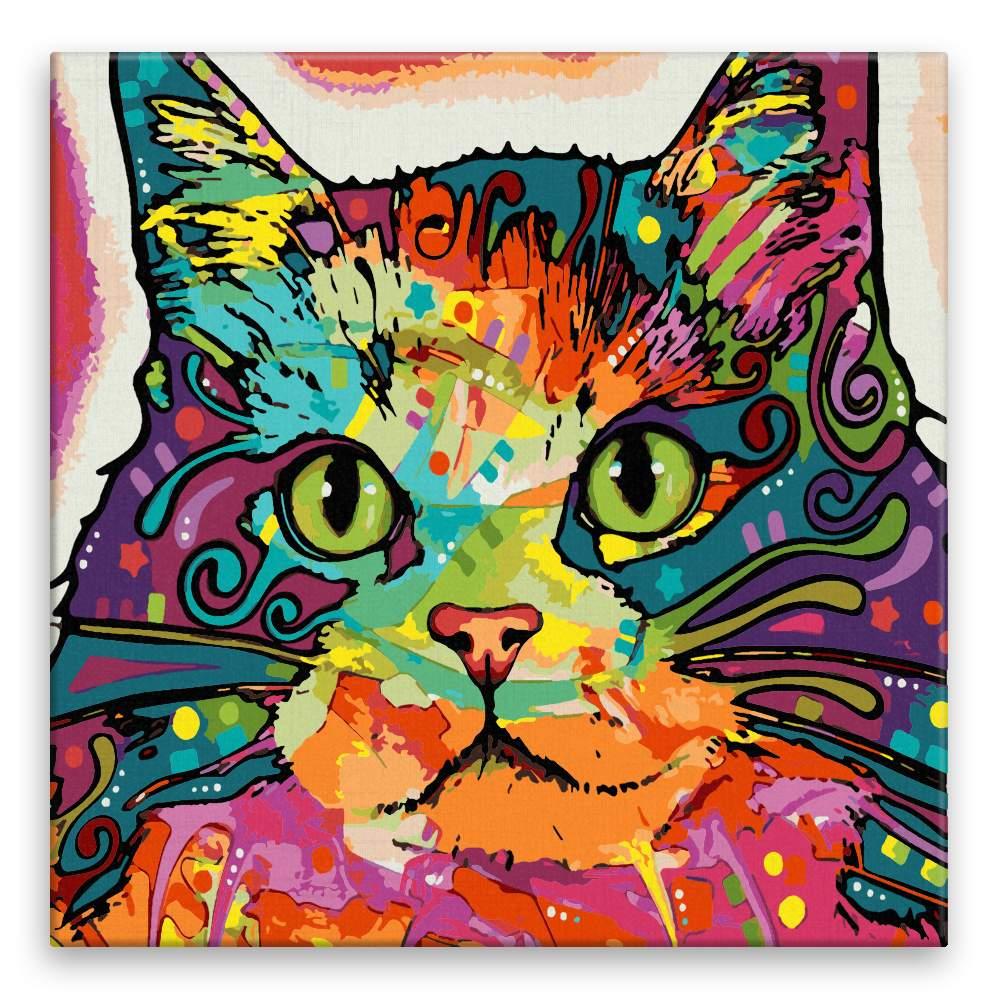 Malování podle čísel Mapa kočky