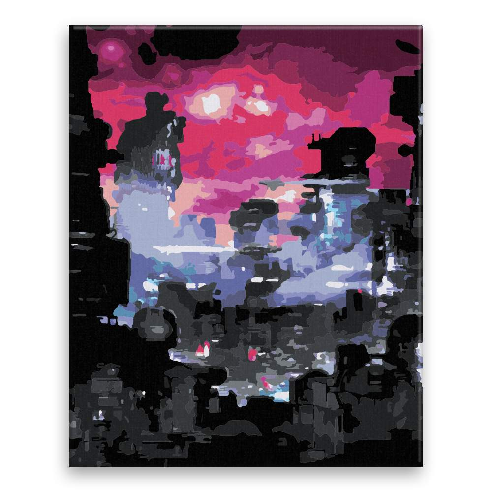 Malování podle čísel Červená obloha budoucnost