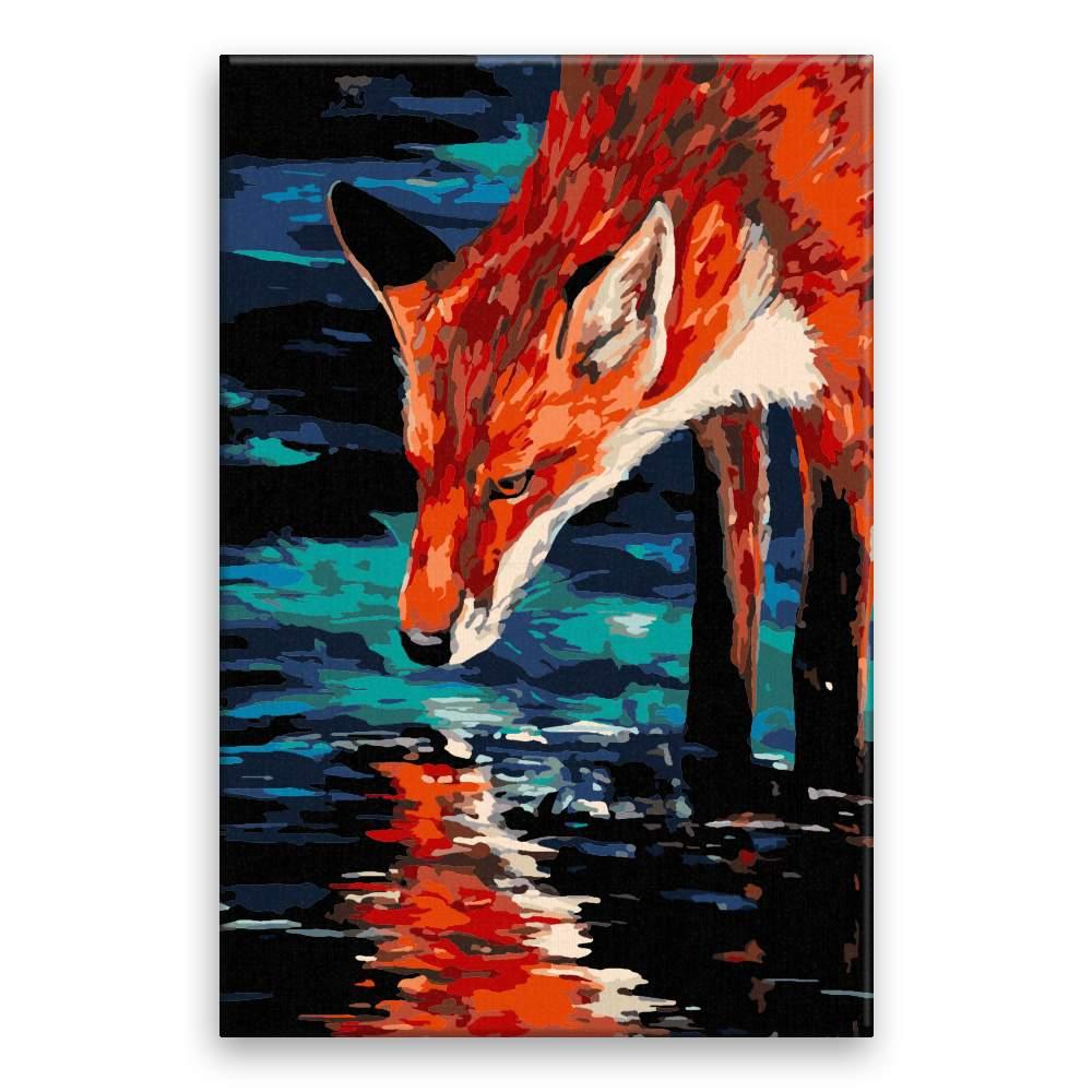 Malování podle čísel Žíznivá liška