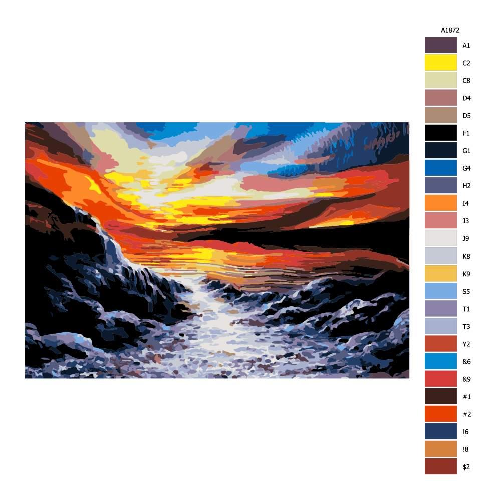 Návod pro malování podle čísel Soulad barev