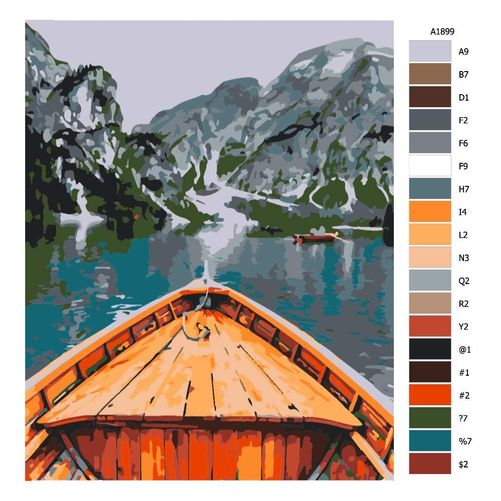 Návod pro malování podle čísel Plavba za poznáním