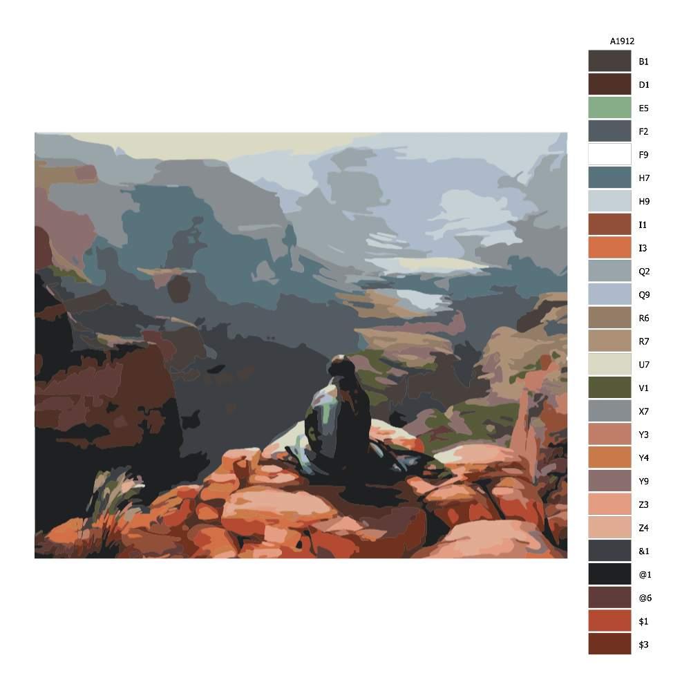 Návod pro malování podle čísel Klid