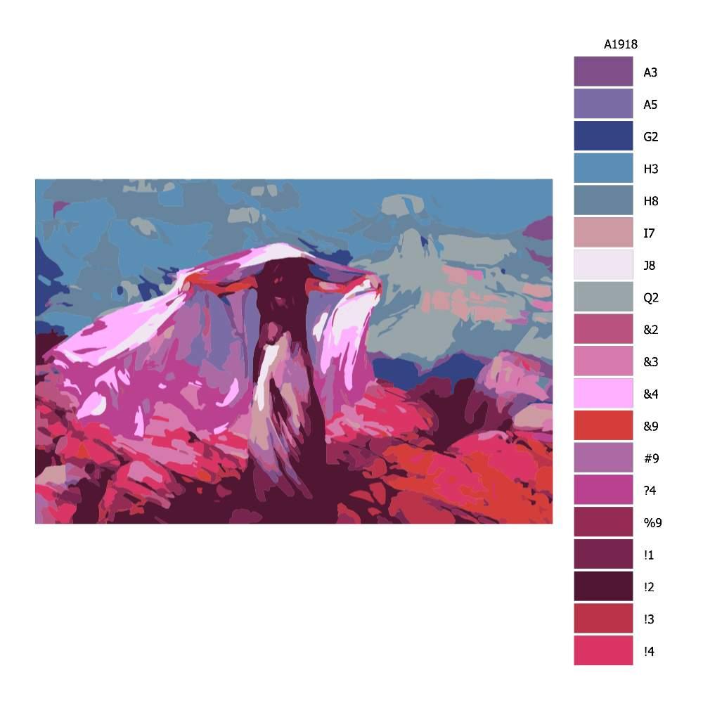 Návod pro malování podle čísel Tančící při žáru měsíce