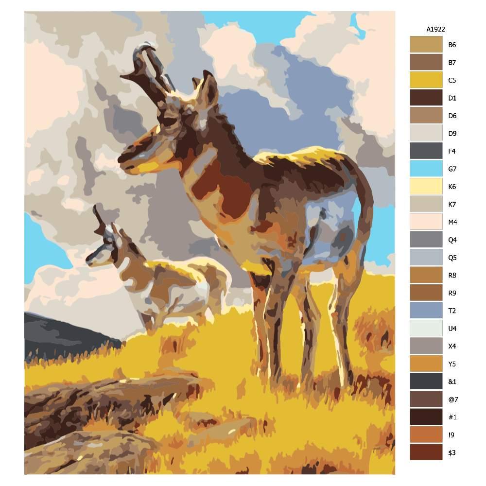 Návod pro malování podle čísel V záchvěvu větru