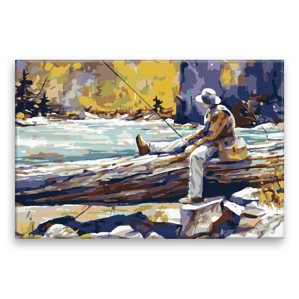 Malování podle čísel Rybář s brašnou
