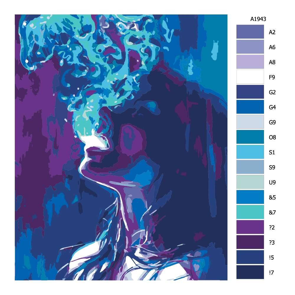 Návod pro malování podle čísel Hluboký výdech