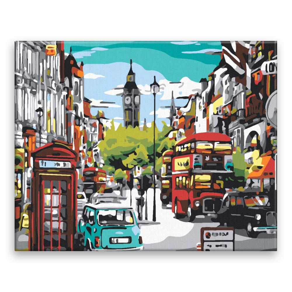 Malování podle čísel Londýnská ulice