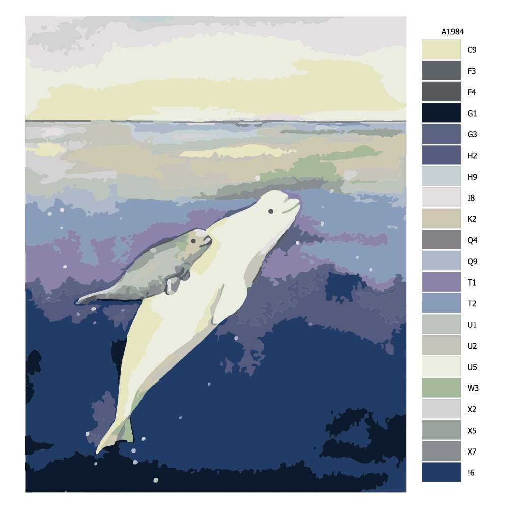 Návod pro malování podle čísel Proplouvání k světlu