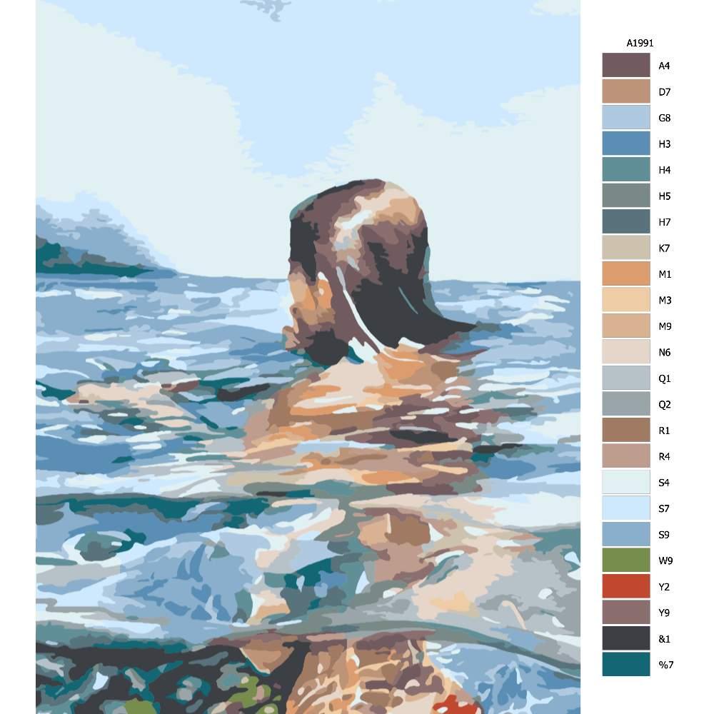 Návod pro malování podle čísel V moři