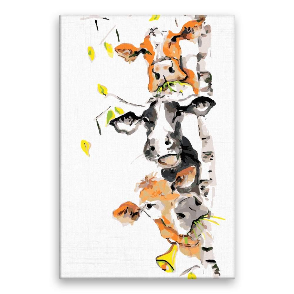 Malování podle čísel Tři veselé krávy