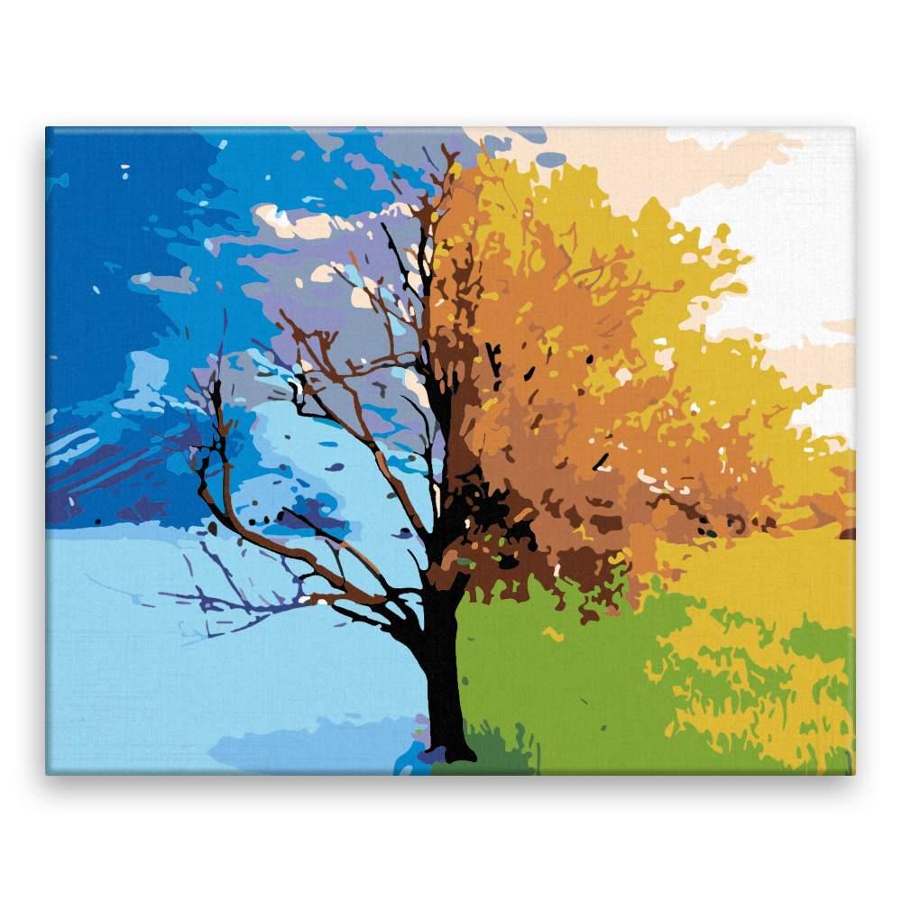 Malování podle čísel Jaro léto podzim zima