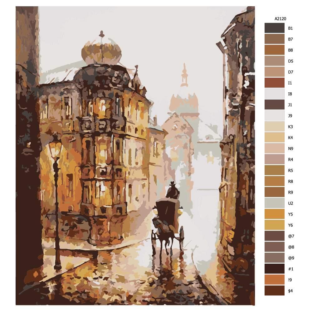Návod pro malování podle čísel Londýn z dob minulých