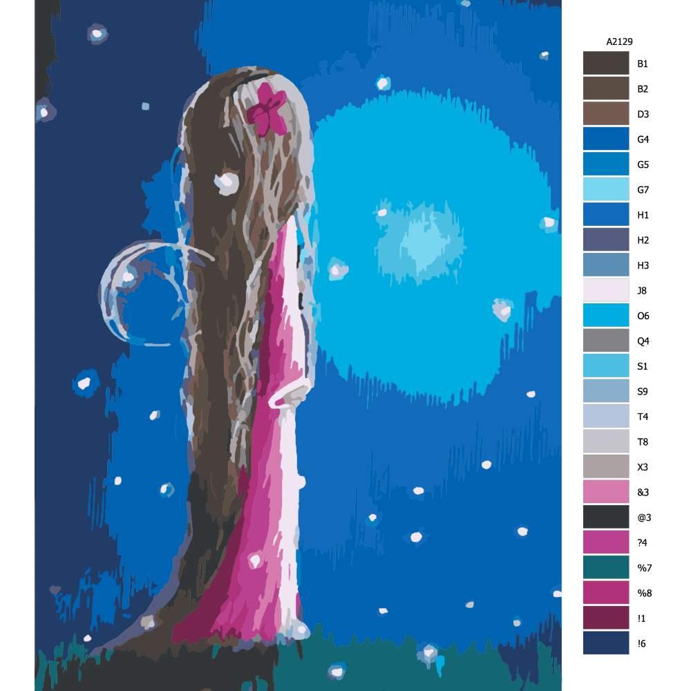 Malování podle čísel Čekaní na úsvit