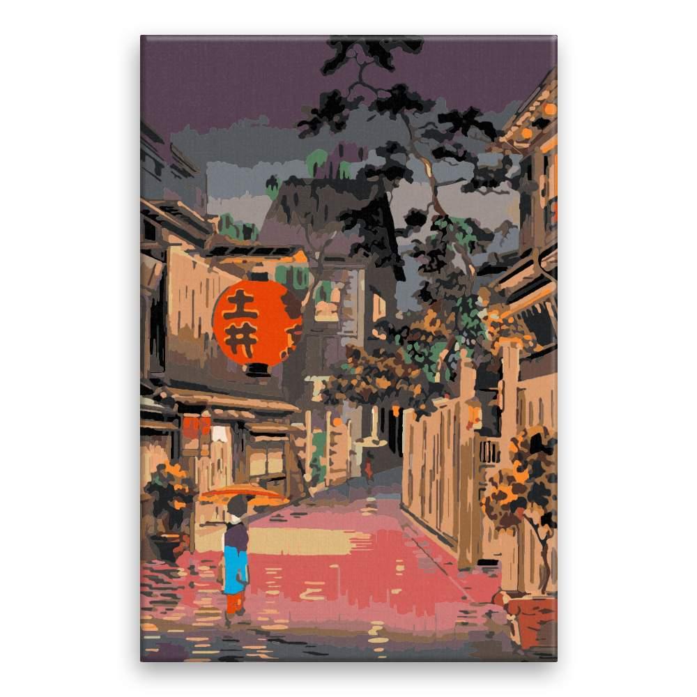 Malování podle čísel Japonský podvečer