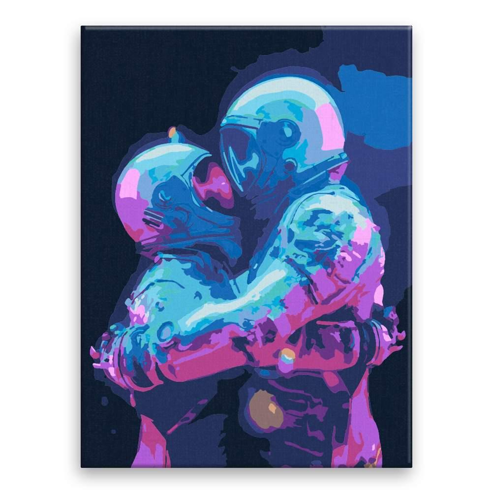 Malování podle čísel Astronauti 02