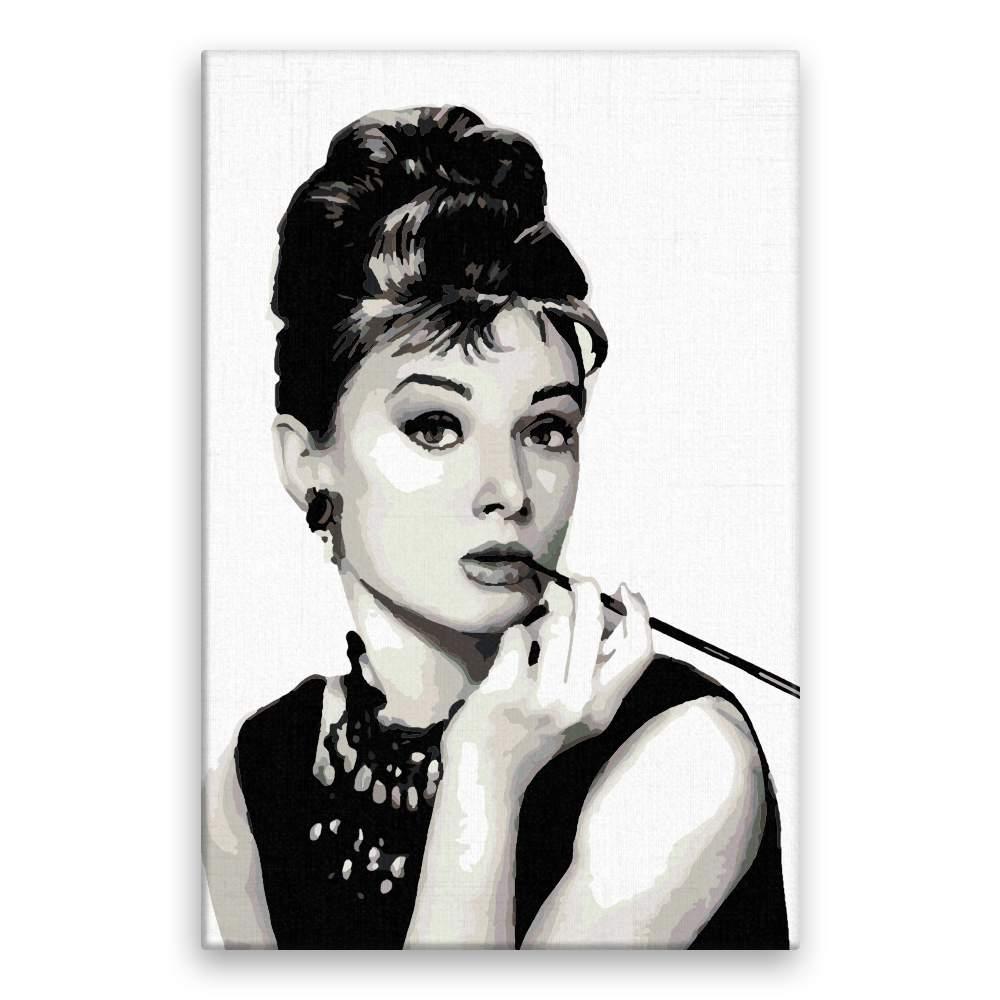Malování podle čísel Audrey Hepburn 01