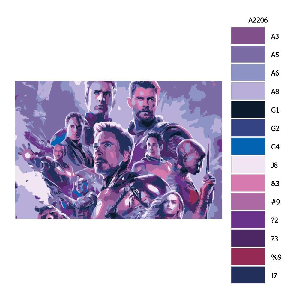Návod pro malování podle čísel Avengers I