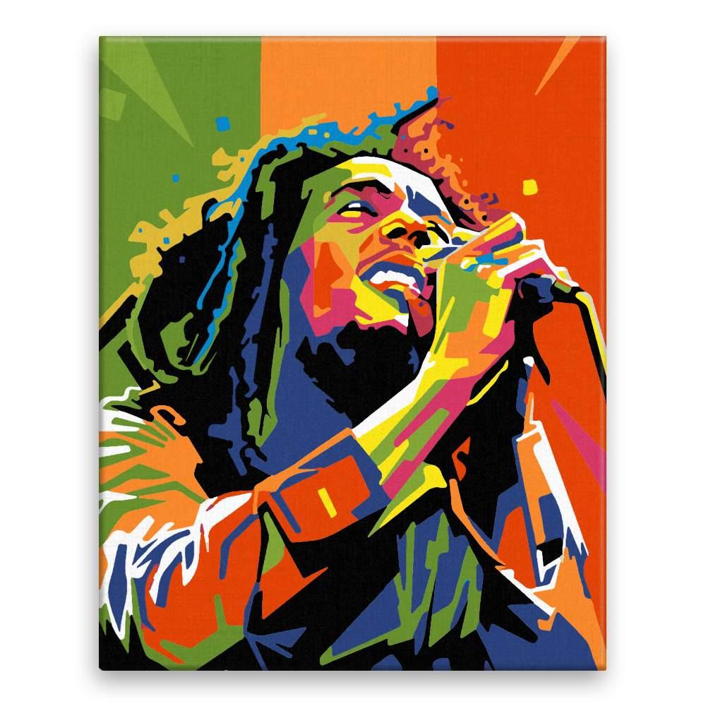 Malování podle čísel Bob Marley 02